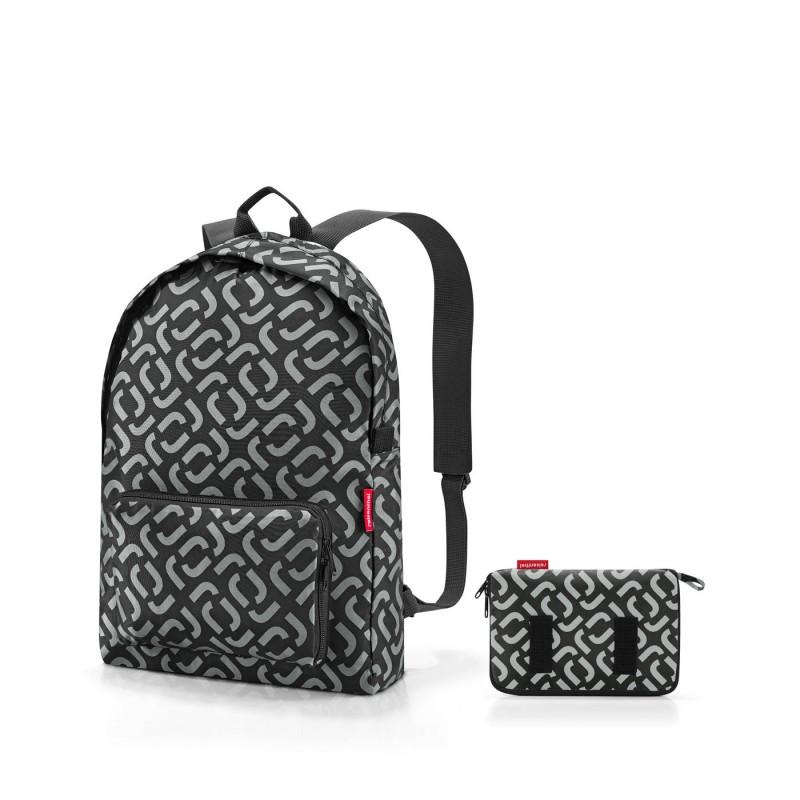 skládací batoh Mini Maxi Rucksack signature black, Reisenthel