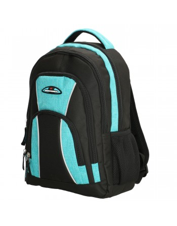 """Martinique 12 liters, 14"""", black - turquoise, backpack Enrico Benetti"""